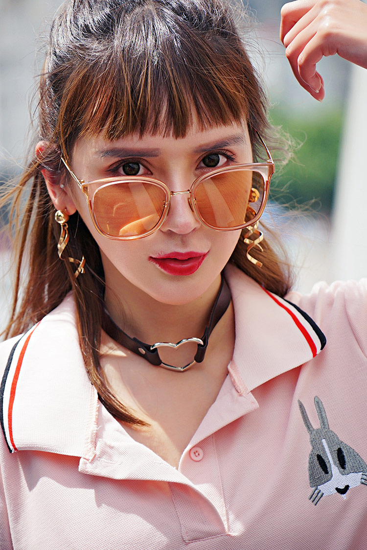 菊色太陽眼鏡